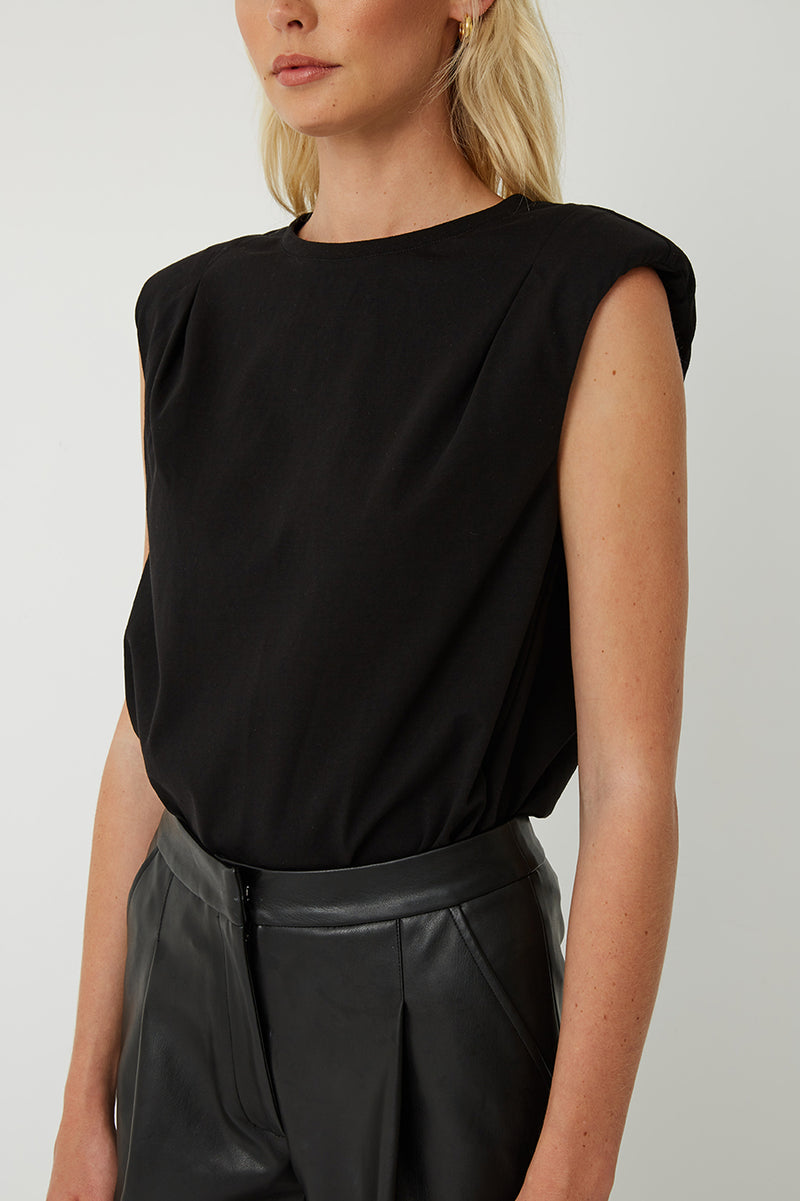 Jo Padded Shoulder Top