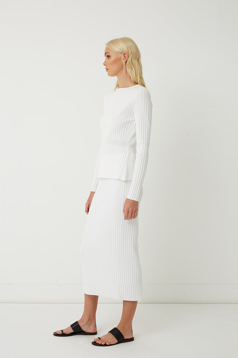 Bette Ribbed Knit Tie Top