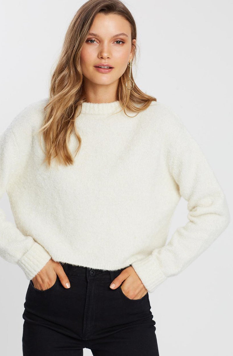 Wool Alpaca Cropped Knit Jumper