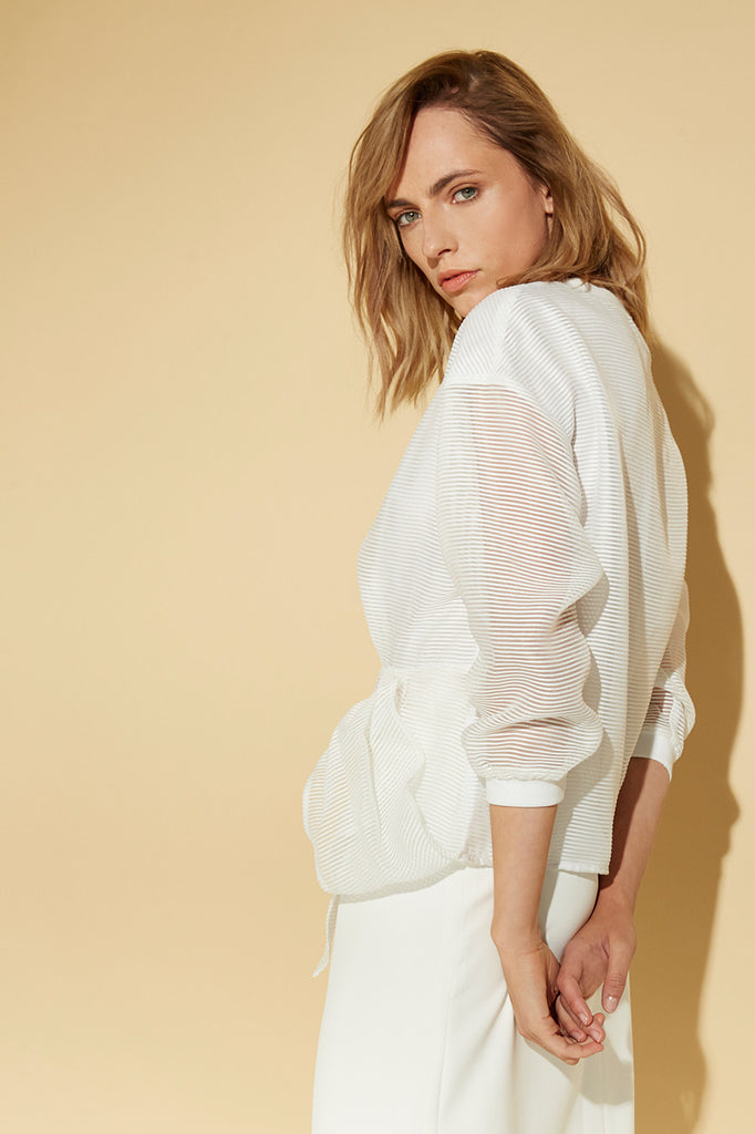 WHITE SPORTS LUXE TOP