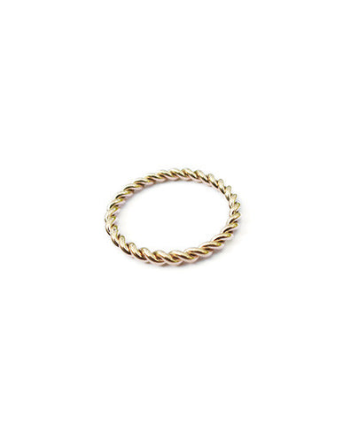 Eternity Twist Ring in Gold