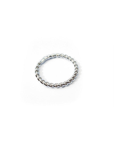 Eternity Twist Ring in 925 Sterling Silver