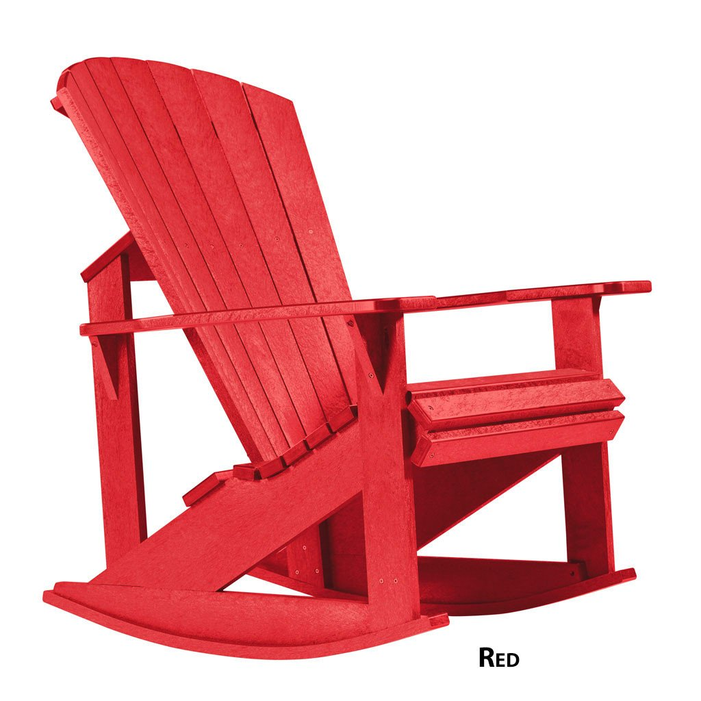 Adirondack Red Rocking Chair