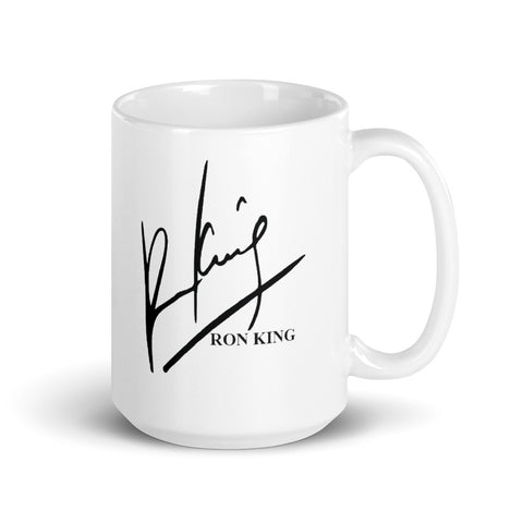 Ron King White Mug - 15oz