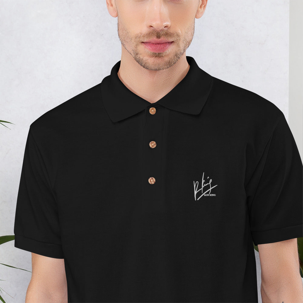 Ron King Embroidered Polo Shirt