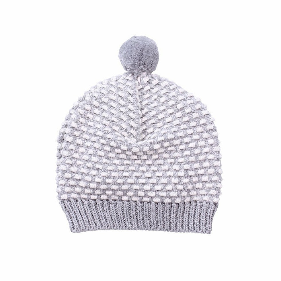D-LUX - NEWBIE HAT WITH POM POM - GREY