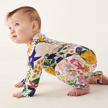 Load image into Gallery viewer, KIP & CO - MEADOW COLOURFUL ORGANIC LS ZIP ROMPER