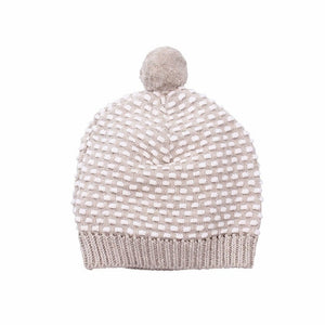 D-LUX - NEWBIE HAT WITH POM POM - NATURAL