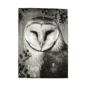BONNIE & NEIL - TEA TOWEL - OWL BLACK