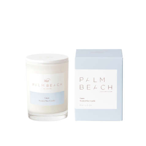 PALM BEACH COLLECTION LINEN MINI CANDLE