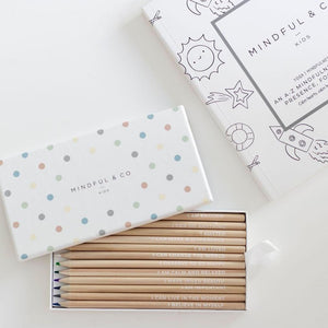 MINDFUL & CO KIDS - AFFIRMATION COLOURING PENCILS