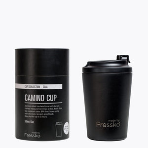 MADE BY FRESSKO - CAMINO REUSABLE COFFEE CUP 340ML/12OZ - COAL