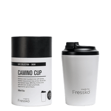 Load image into Gallery viewer, MADE BY FRESSKO - CAMINO REUSABLE COFFEE CUP 340ML/12OZ - SNOW