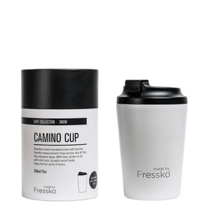 MADE BY FRESSKO - CAMINO REUSABLE COFFEE CUP 340ML/12OZ - SNOW