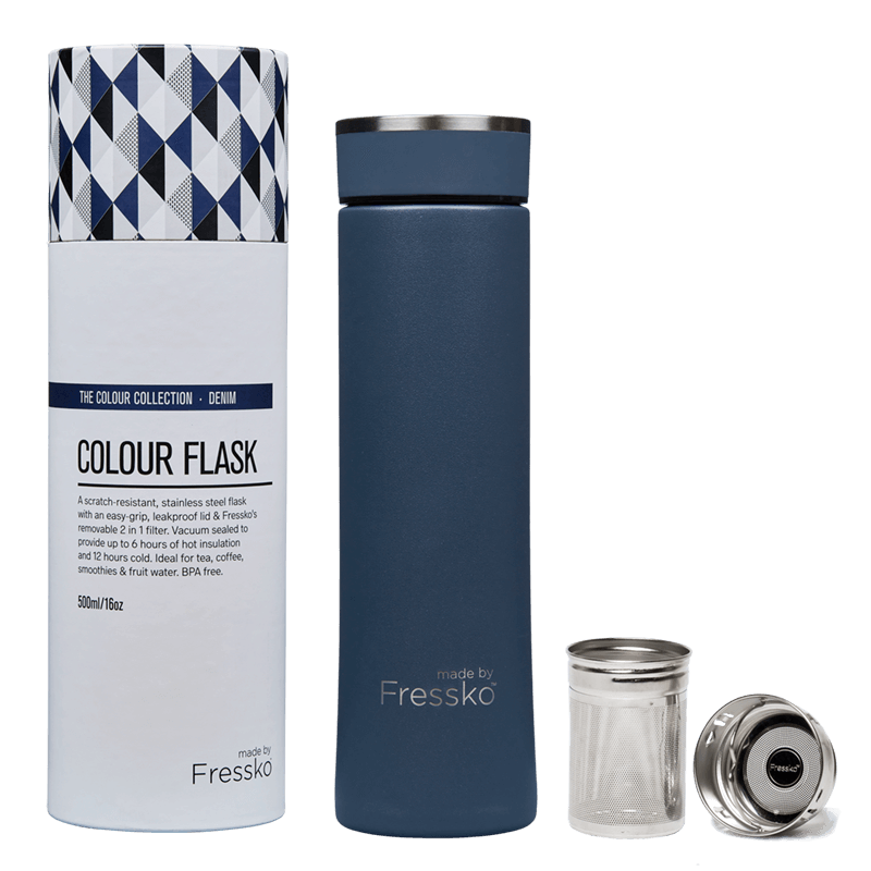 MADE BY FRESSKO - FLASK 500ML - DENIM