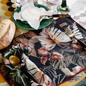 KIP & CO - NIGHT JUNGLE LINEN SIX PIECE PLACEMAT SET