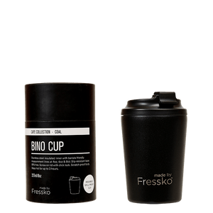 MADE BY FRESSKO - BINO REUSABLE COFFEE CUP 227ML/8OZ - COAL