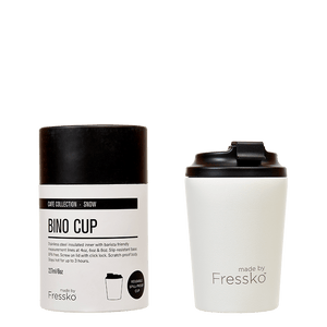 MADE BY FRESSKO - BINO REUSABLE COFFEE CUP 227ML/8OZ - SNOW