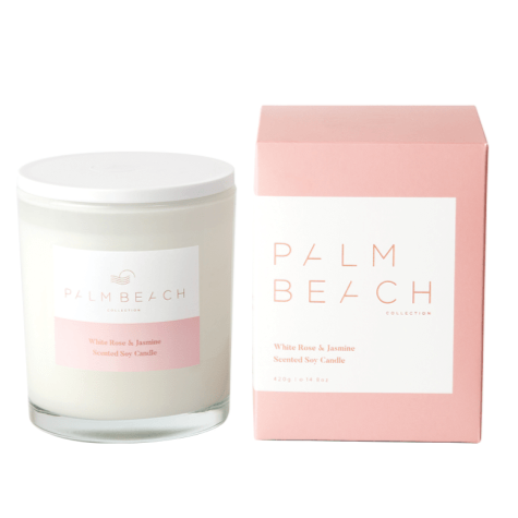 PALM BEACH COLLECTION WHITE ROSE & JASMINE STANDARD CANDLE