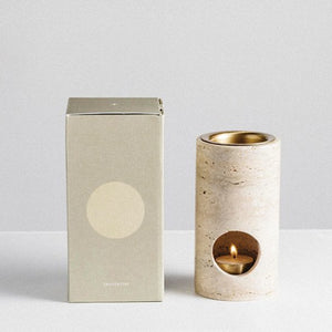ADDITION STUDIO- SYNERGY OIL BURNER - TRAVERTINE - INSTORE PICKUP ONLY
