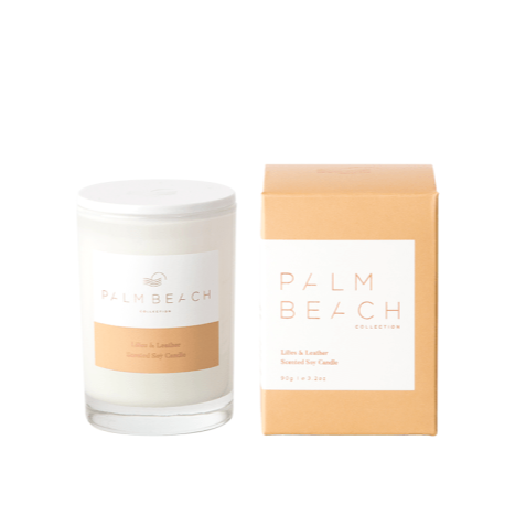 PALM BEACH COLLECTION LILIES & LEATHER MINI CANDLE