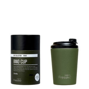 MADE BY FRESSKO - BINO REUSABLE COFFEE CUP 227ML/8OZ - KHAKI