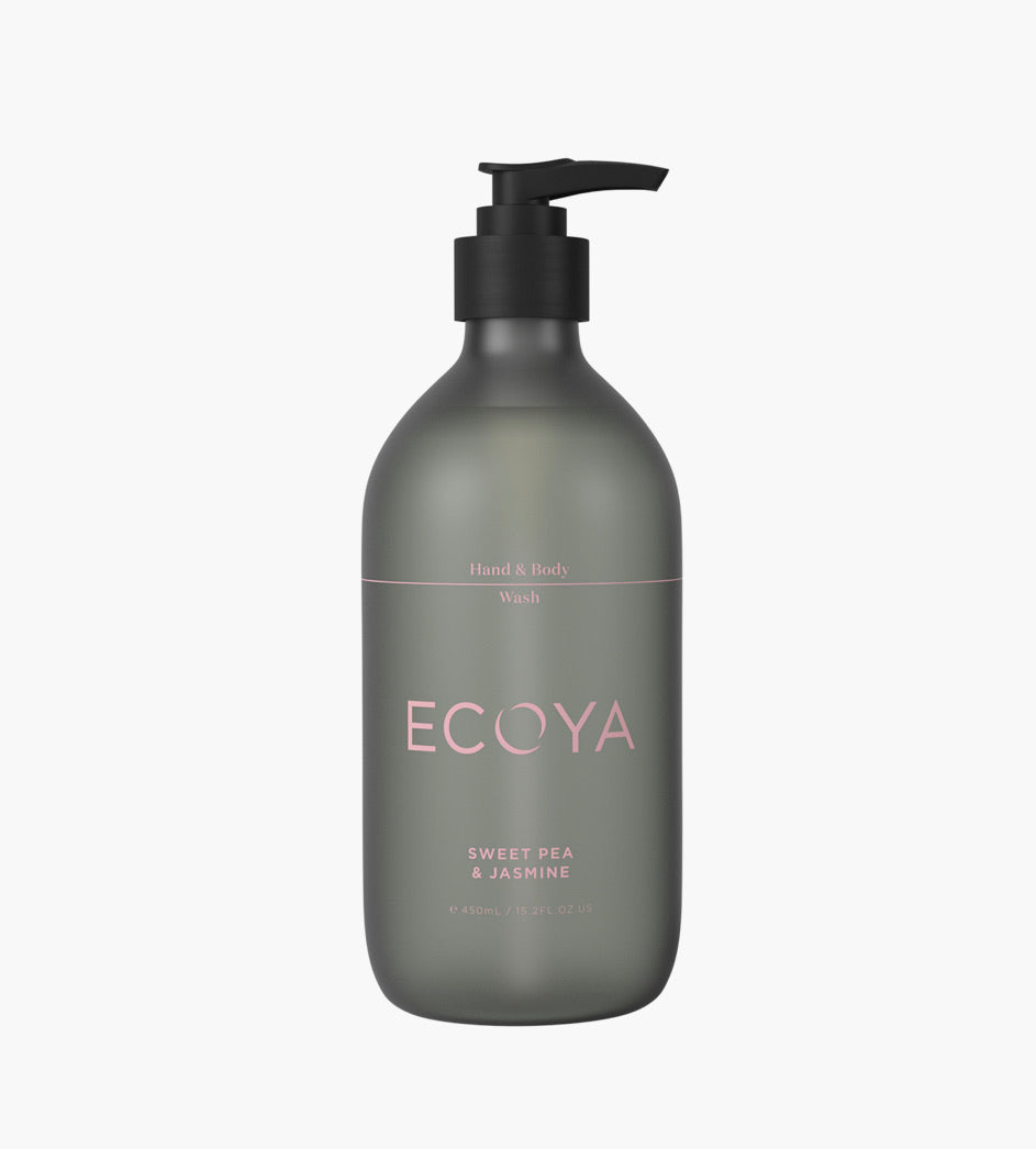 ECOYA - HAND & BODY WASH - SWEET PEA & JASMINE