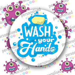 Covid Stickers Isolation Quarantine Sign Wash Hands Stay At Home Keep Distance - Matte