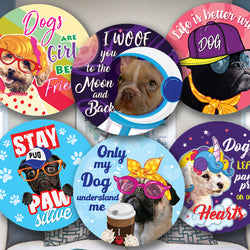 Personalised Reward Stickers For Dog Lovers Round Labels Address Printed