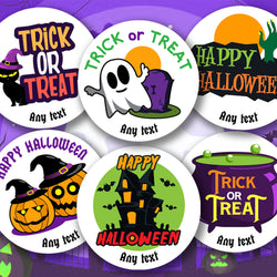 Personalised Halloween Stickers for Children Happy Halloween Trick Or Treat Stickers Round Labels