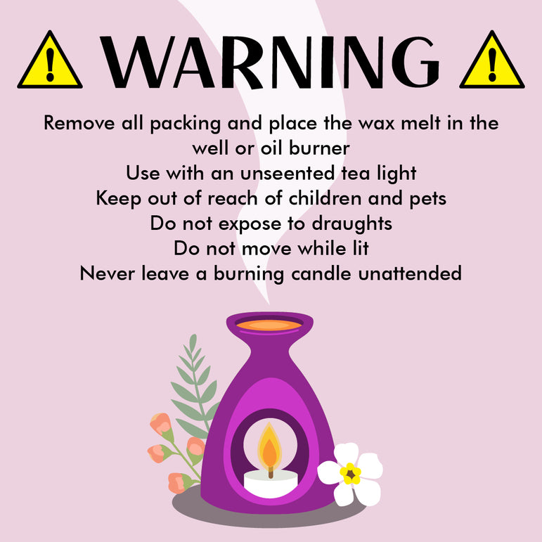 Personalised Wax Melts Warning Message Label Stickers Custom Business Round Printed Address