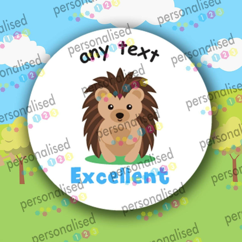 Personalised Reward Stickers Children Teacher Labels Cute Forest Animals - Glossy