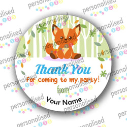 Personalised Birthday Stickers Thank You For Coming To Party Sweet Cone Labels - Matte