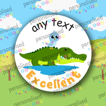 Personalised Teacher Stickers Safari Animals Well Done Reward Labels Children - Matte