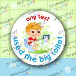 Personalised Potty Training Stickers Reward Labels Toilet Boy Girl Children Kids - Glossy