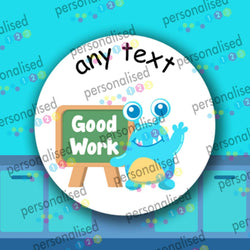 Personalised Reward Stickers For Children Monsters Teacher Well Done Labels Lot - Glossy