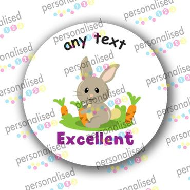 Personalised Teacher Stickers Children Reward Labels Cute Forest Animals - Glossy