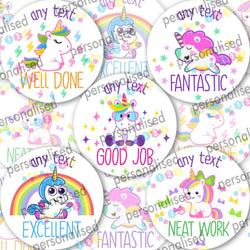 Personalised Reward Stickers 1000 Well Done Labels Teacher Bulk Pack Children - Glossy