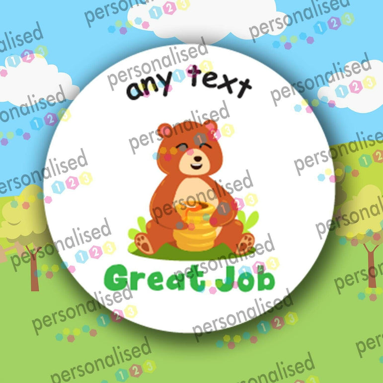 Personalised Reward Stickers Children Teacher Labels Cute Forest Animals - Matte