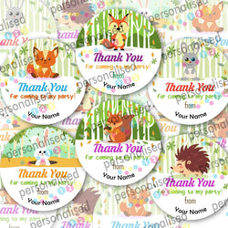 Personalised Birthday Stickers Thank You For Coming To Party Sweet Cone Labels - Glossy