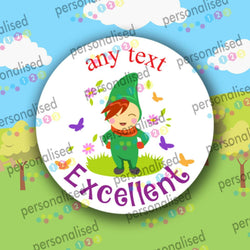 Personalised Reward Stickers For Children Fairy Tale Well Done Labels Teacher - Matte