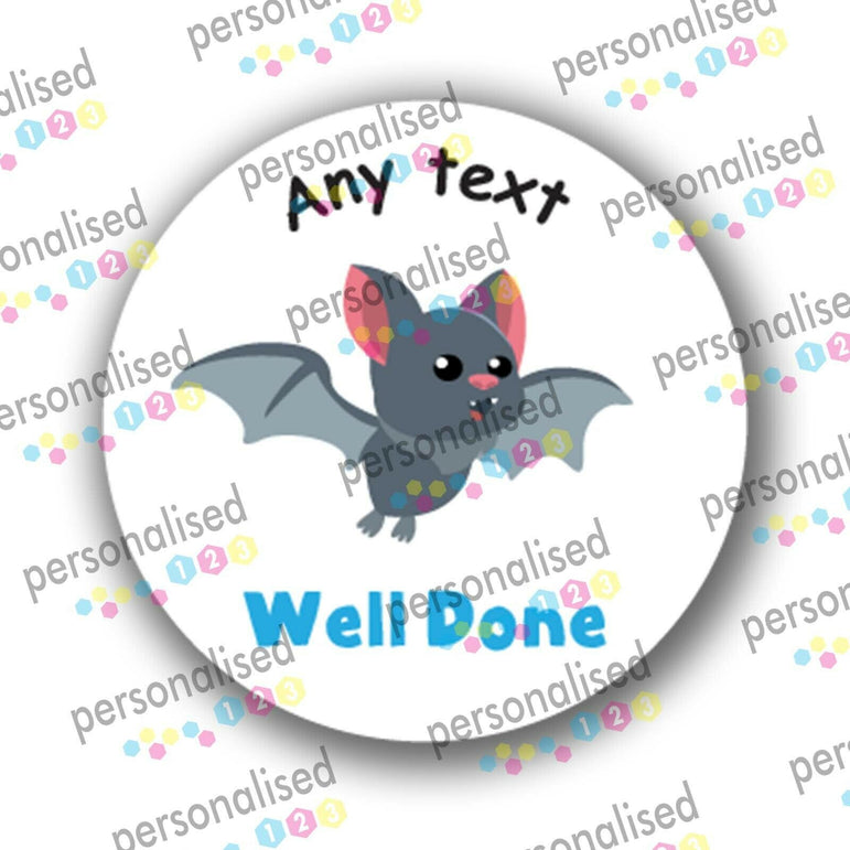 Personalised Teacher Stickers Children Reward Labels Cute Forest Animals - Matte