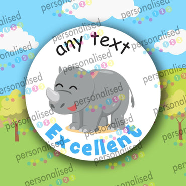 Personalised Reward Stickers Jungle Animals Teacher Well Done Labels Children - Glossy