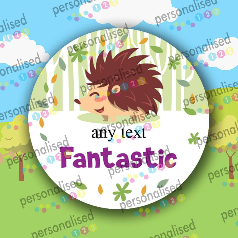 Personalised Reward Stickers Children Encourage Labels Cute Forest Animals - Glossy