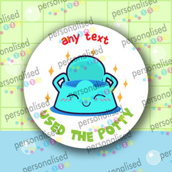 Personalised Toilet Training Stickers Potty Reward Labels Boy Girl Children Kids - Glossy