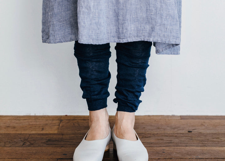just in: linen leggings