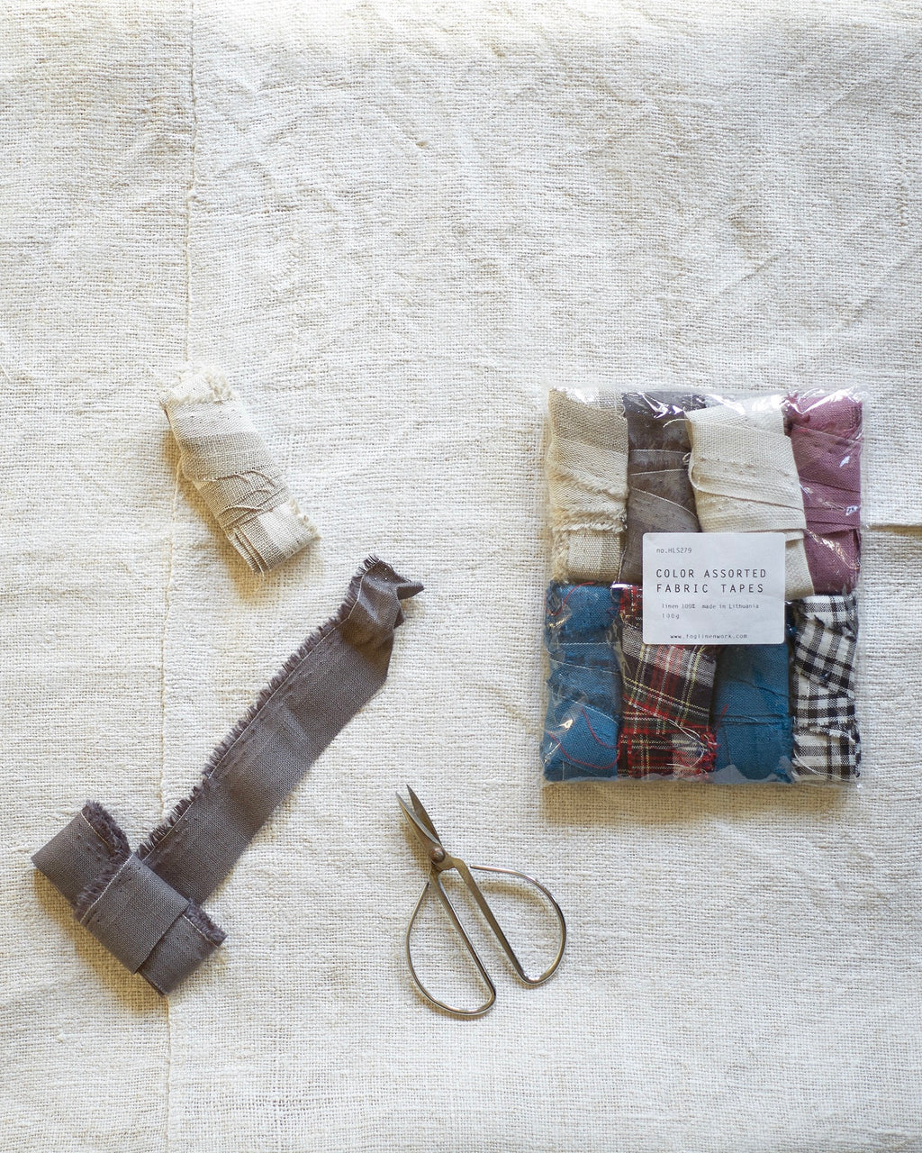 Linen Fabric Tape Set: 100g