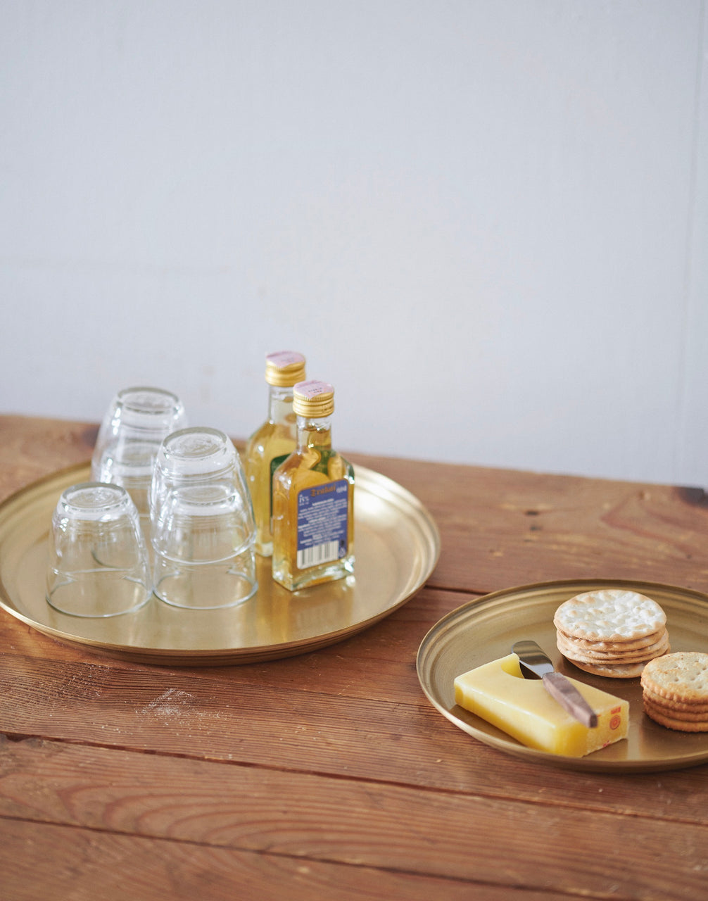 Brass Round Tray: Large