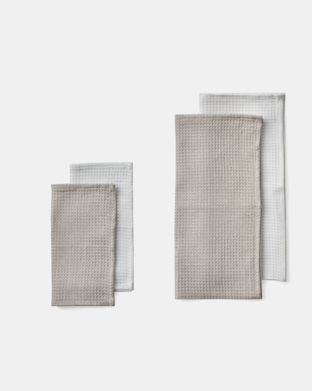 Linen Waffle Towels: White