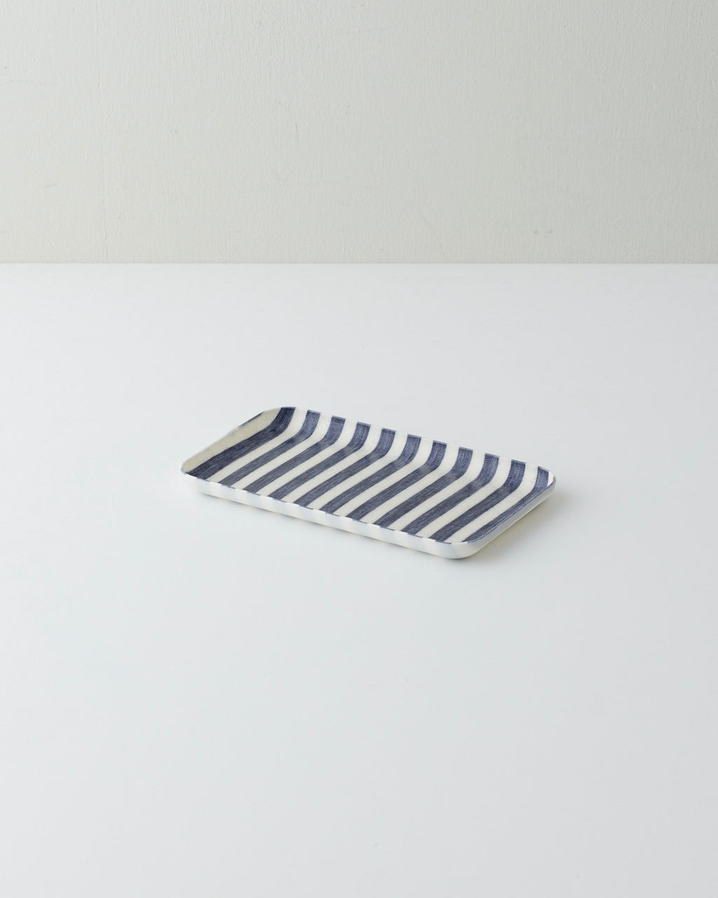 Linen Tray Small: Blue White Stripe